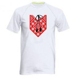 Мужская спортивная футболка Вишиванка з зав'язкою - FatLine