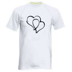 Мужская спортивная футболка Влюбленные сердца - FatLine