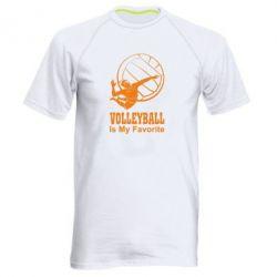 Мужская спортивная футболка Волейбол Is my favorite
