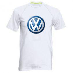 Мужская спортивная футболка Volkswagen 3D Logo - FatLine