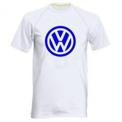 Мужская спортивная футболка Volkswagen Logo - FatLine