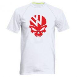 Мужская спортивная футболка Volkswagen Skull - FatLine