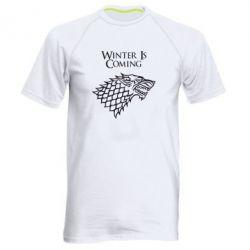 Мужская спортивная футболка Winter is coming (Игра престолов) - FatLine