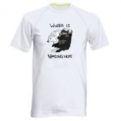 Мужская спортивная футболка Winter is !@#%ing here