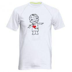 Мужская спортивная футболка Я люблю его - FatLine