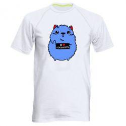 Мужская спортивная футболка Я люблю кушать - FatLine