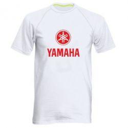 Мужская спортивная футболка Yamaha Logo(R+W) - FatLine