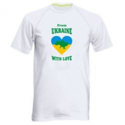 Мужская спортивная футболка З України з любовью