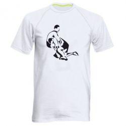 Мужская спортивная футболка Захват в борьбе - FatLine