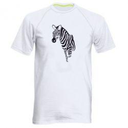 Мужская спортивная футболка Зебра