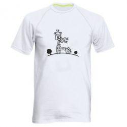 Мужская спортивная футболка жираф