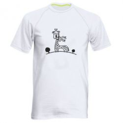 Чоловіча спортивна футболка жираф - FatLine