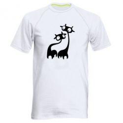 Мужская спортивная футболка Жирафы - FatLine