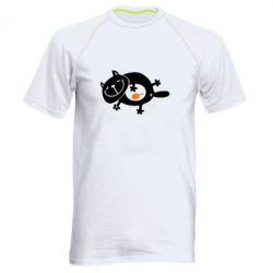 Мужская спортивная футболка Жирный кот - FatLine