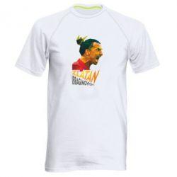 Мужская спортивная футболка Златан Ибрагимович, полигональный портрет