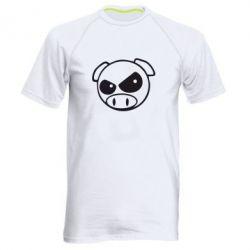 Мужская спортивная футболка Злая свинка - FatLine