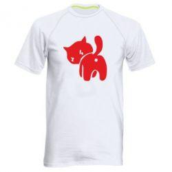 Мужская спортивная футболка злой котэ - FatLine
