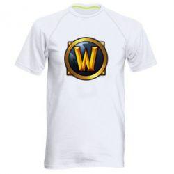 Мужская спортивная футболка Значок wow - FatLine