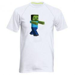 Мужская спортивная футболка Зомби Minecraft - FatLine