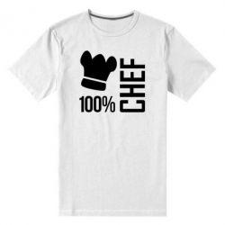 Мужская стрейчевая футболка 100% Chef - FatLine