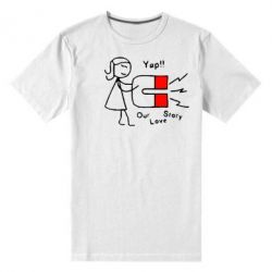 Мужская стрейчевая футболка 2302Our love story2 - FatLine