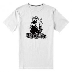 Мужская стрейчевая футболка 2pac Thug Life