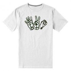 Мужская стрейчевая футболка 4:20 (четыре:двадцать) - FatLine