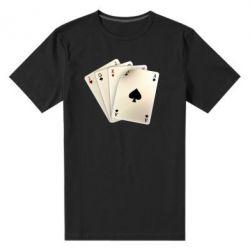 Мужская стрейчевая футболка 4 cards