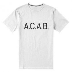Мужская стрейчевая футболка A.C.A.B. - FatLine