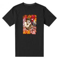 Мужская стрейчевая футболка AC DC Art Banner - FatLine