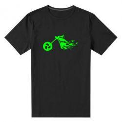 Мужская стрейчевая футболка Аццкий байк - FatLine