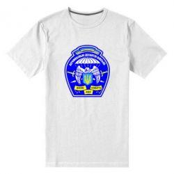 Мужская стрейчевая футболка Аеромобільні десантні війська - FatLine