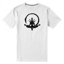 Мужская стрейчевая футболка Alien Yoga - FatLine