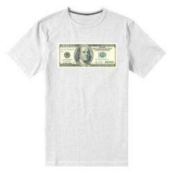 Мужская стрейчевая футболка Американский Доллар - FatLine