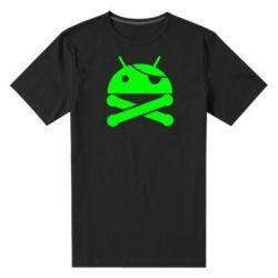 Мужская стрейчевая футболка Android Pirate - FatLine