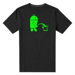 Мужская стрейчевая футболка Android унижает Apple - FatLine