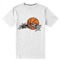 Мужская стрейчевая футболка Angry ball - FatLine