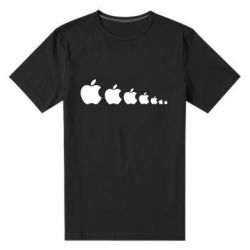 Мужская стрейчевая футболка Apple Evolution - FatLine