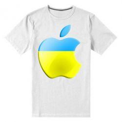Мужская стрейчевая футболка Apple Ukraine - FatLine