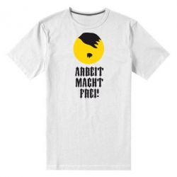 Мужская стрейчевая футболка Arbeit Macht Ftei Hitler - FatLine