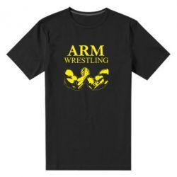Мужская стрейчевая футболка Arm Wrestling - FatLine