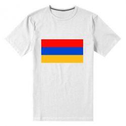 Мужская стрейчевая футболка Армения - FatLine