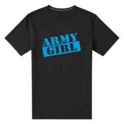 Мужская стрейчевая футболка Army girl