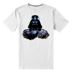Мужская стрейчевая футболка Арт Дарт Вейдер - FatLine