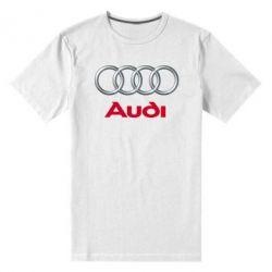 Мужская стрейчевая футболка Audi 3D Logo - FatLine