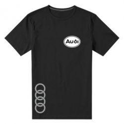 Мужская стрейчевая футболка Audi Logo