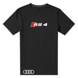 Мужская стрейчевая футболка Audi RS4 - FatLine