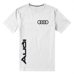 Мужская стрейчевая футболка Audi Sport - FatLine
