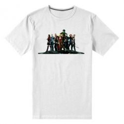Мужская стрейчевая футболка Avengers on the rock