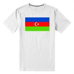 Мужская стрейчевая футболка Азербайджан - FatLine